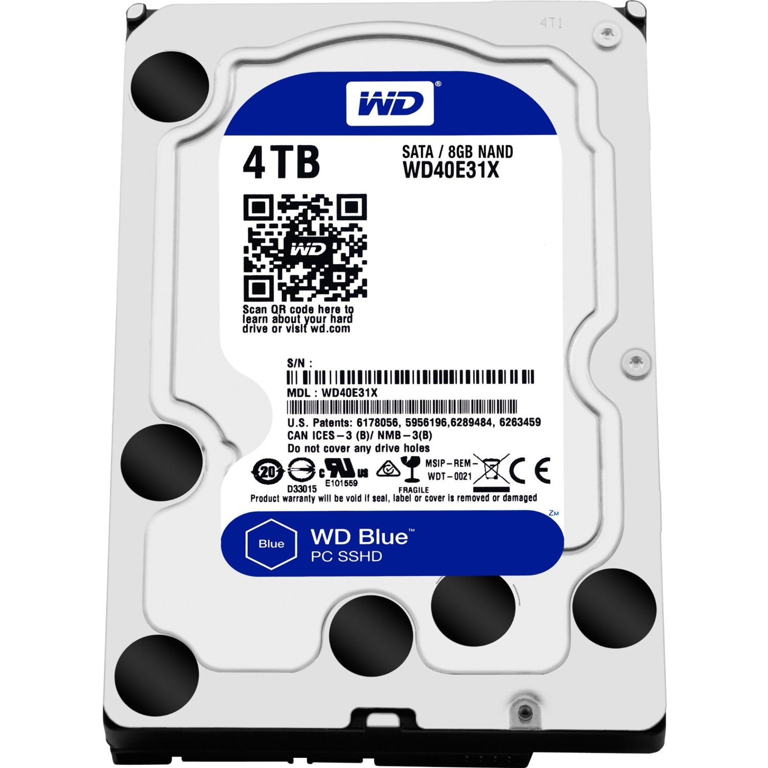 WD Blue SSHD 4TB Desktop Hard Disk Drive - SATA 6 Gb/s 64MB Cache 3 5 Inch  - WD40E31X - Buy Computers Online, Buy Servers, Buy Software Singapore